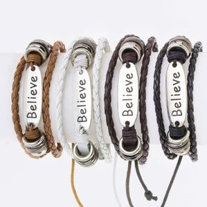 Jewelry - BELIEVE Bracelet - BROWN